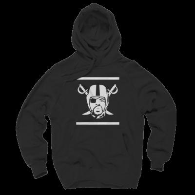 Oakland Raiders Hoodies - Ice Cube Raiders Logo Black Hoodie