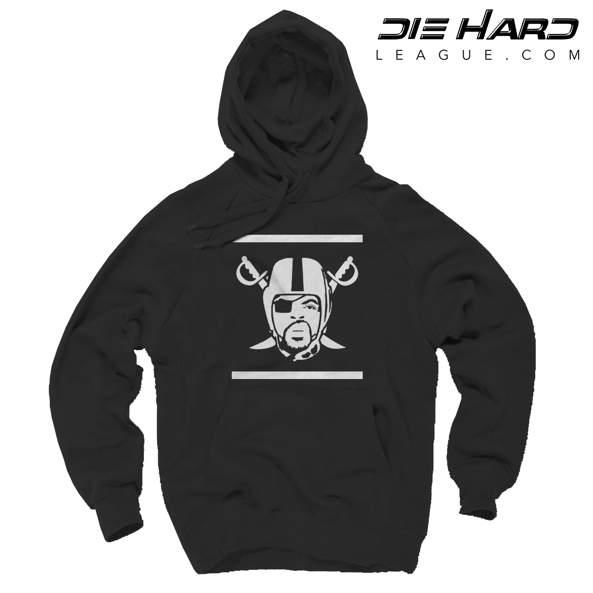 on sale dc40e 7a202 Oakland Raiders Hoodies - Ice Cube Raiders Logo Black Hoodie