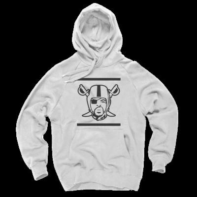 Oakland Raider Hoodies - Ice Cube Raiders Logo White Hoodie