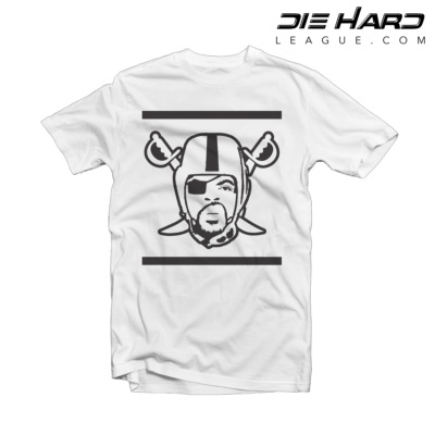 Oakland Raiders T Shirt - Ice Cube Raiders Logo White Tee