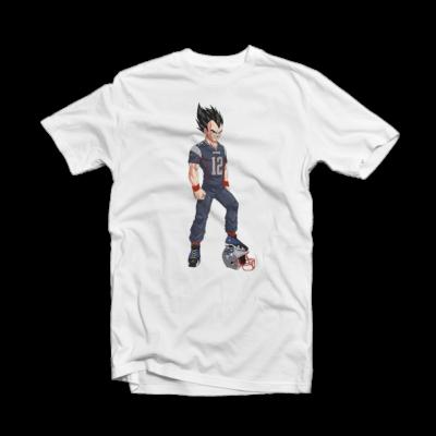 Tom Brady T-Shirts - Patriots Tom Brady Vegeta White Tee