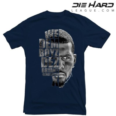 Dez Bryant Shirt - Dallas Cowboys Dez Bryant Face Navy Tee