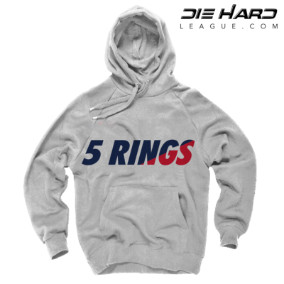 Patriots Hoodie - New England Patriots 5 Rings White Sweater