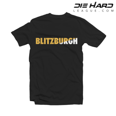 Pittsburgh Steelers T Shirt Blitzburgh Black Tee