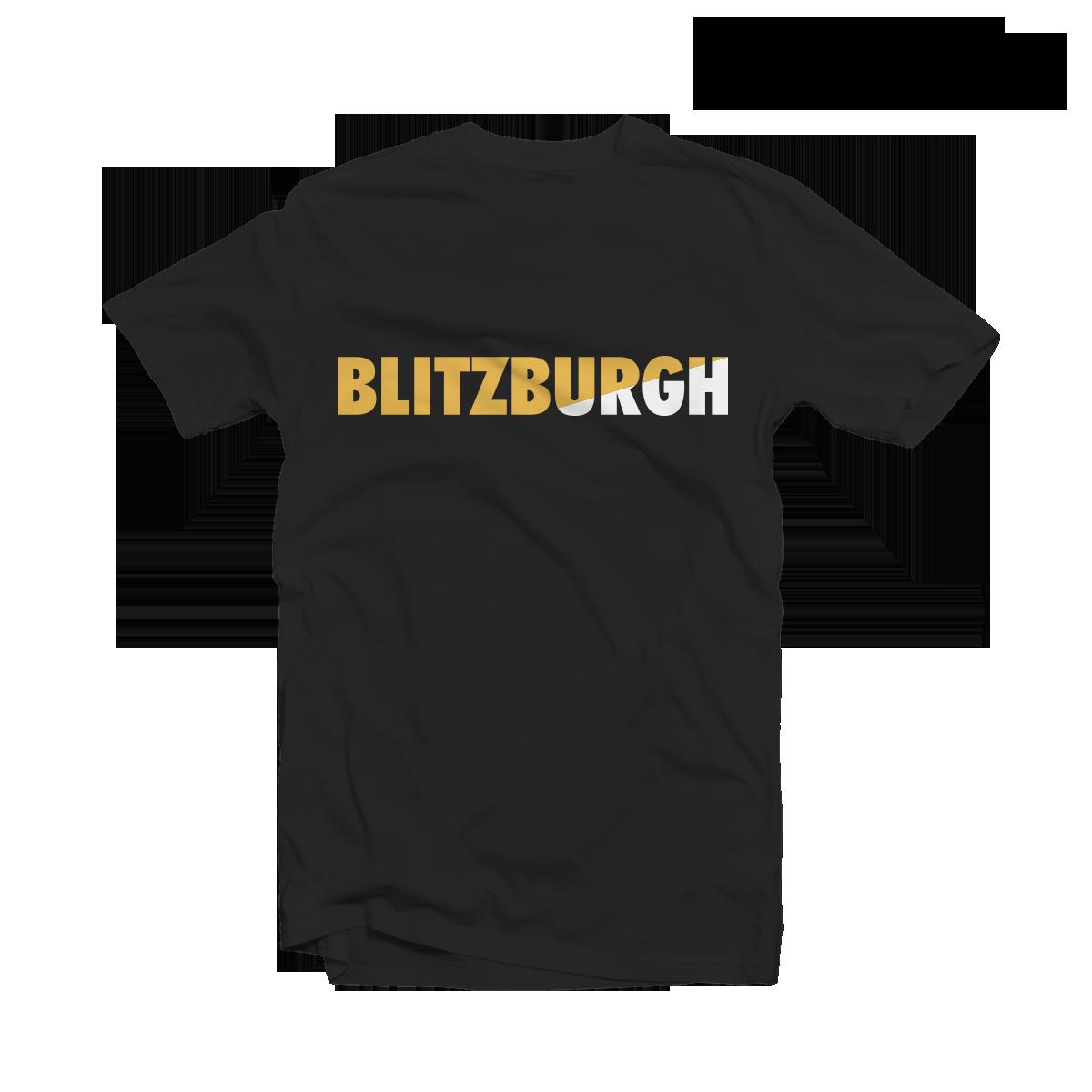 35711b5d781 Blitzburgh Black Tee - Pittsburgh Steelers T Shirt by Die Hard League