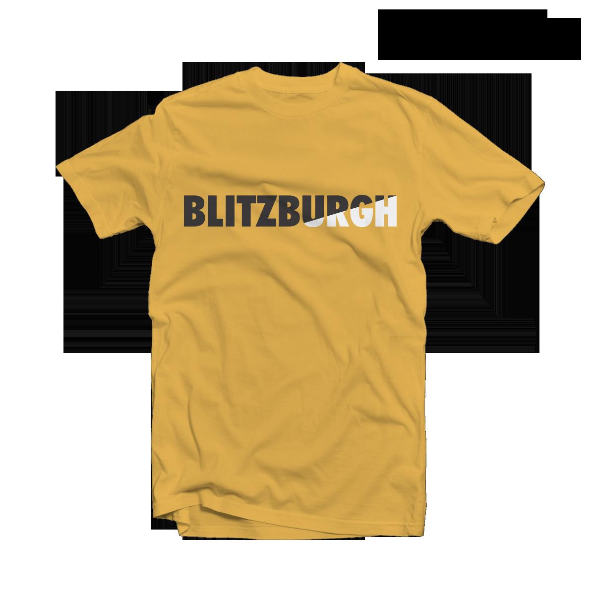 1d138e556 ... Steelers Shirts Cheap – Blitzburgh Yellow Tee. BACK ...