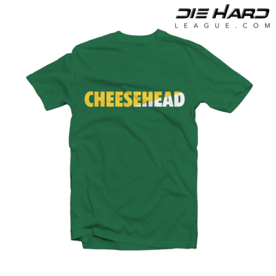 Green Bay Packers T Shirts - Cheese Head Green Tee