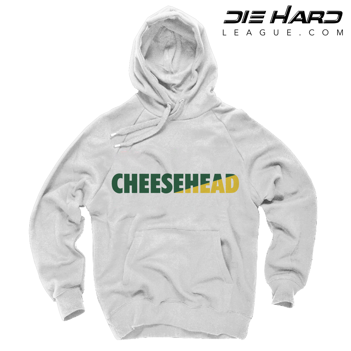 sports shoes 72365 356d3 Packers Hoodie - Cheese Head White Hoodie