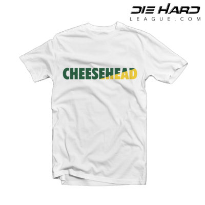 Packers T Shirts - Packers Cheese Head White Tee