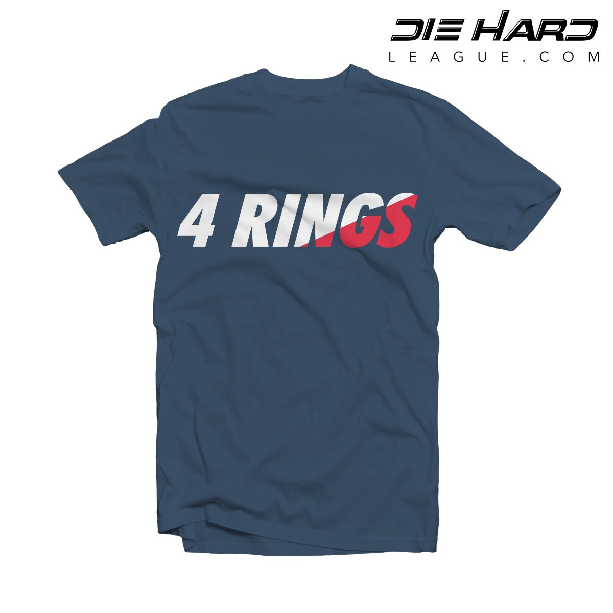 New england patriots t shirt 4 rings navy tee nfl New england patriots shirts