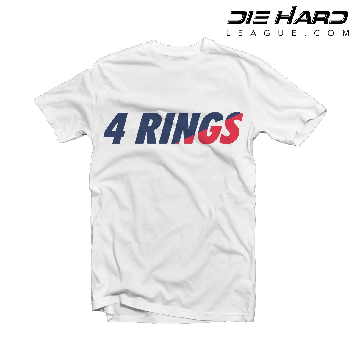 New England Patriots T Shirt 4 Rings White Tee Nfl: new england patriots shirts