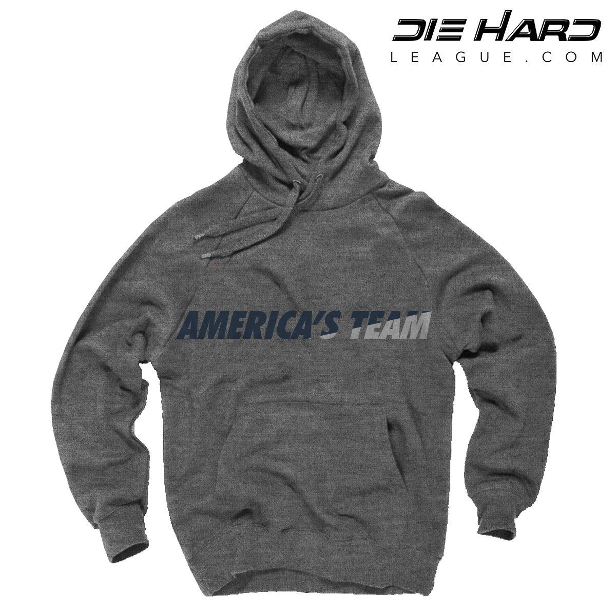 huge discount 7a388 9924e Cowboys Hoodie - Dallas Cowboys Americas Team Heather Gray Hoodie