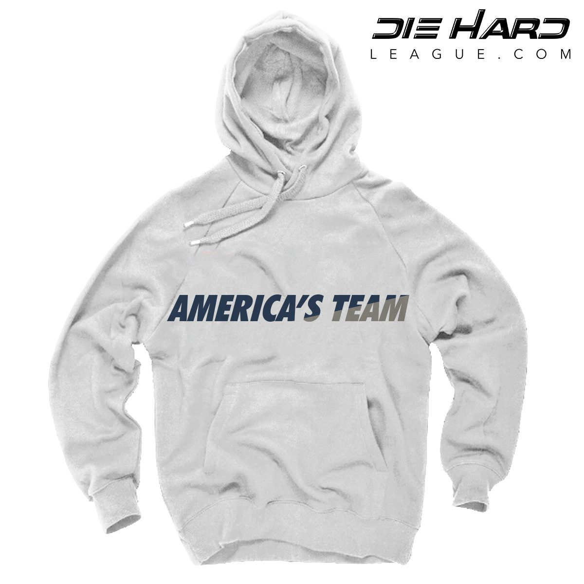 more photos c6a80 63918 Dallas Cowboys Pullover Hoodie - Americas Team White Hoodie
