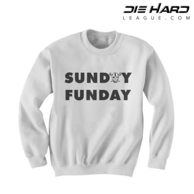 Raiders Sweatshirts - Sunday Funday White Crewneck