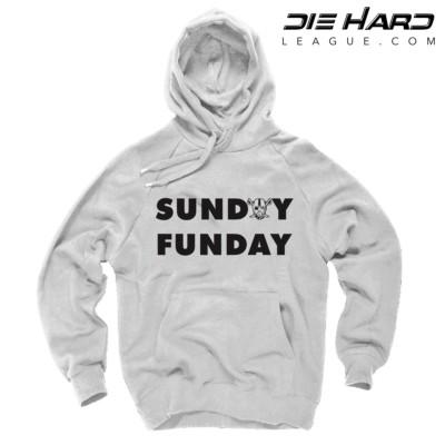 Raiders Hoodies - Sunday Funday White Sweater
