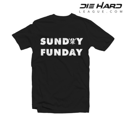 Raiders T Shirts- Oakland Raiders Sunday Funday Black Tee
