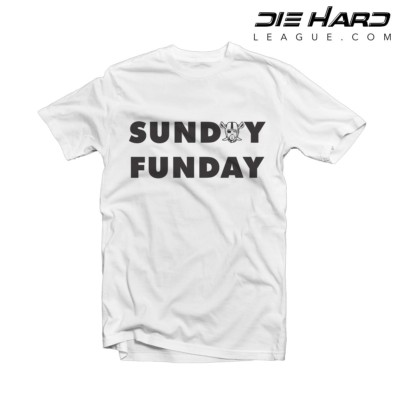 Oakland Raiders Shirt - Sunday Funday White Tee