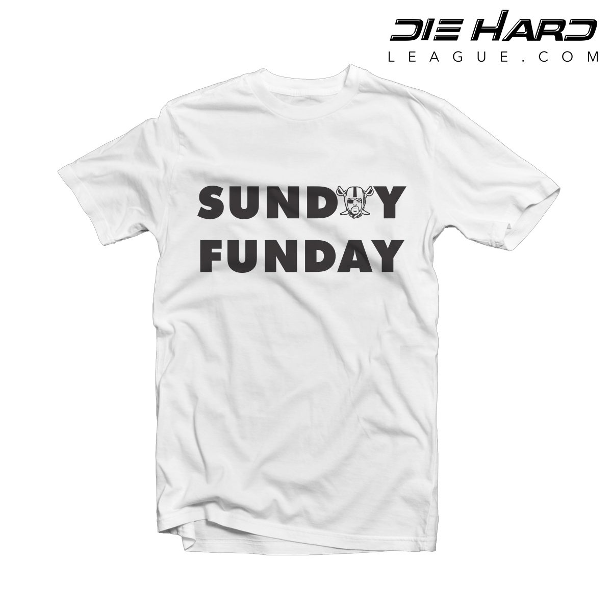 the latest a558c a2cf1 Oakland Raiders Shirt - Sunday Funday White Tee