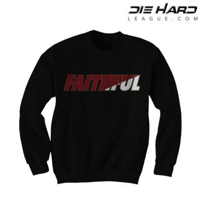 49ers Sweatshirts - San Francisco 49ers FAITHFUL Black Crewneck