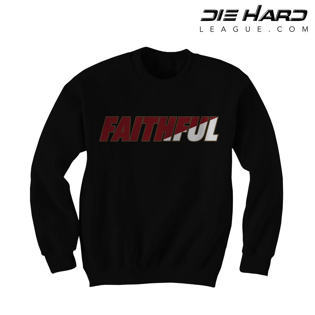 49ers Sweatshirts - San Francisco 49ers FAITHFUL Black Crewneck 21036e1a9f8d