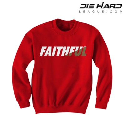 49ers Sweatshirt - San Francisco 49ers FAITHFUL Red Crewneck