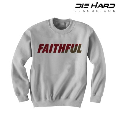 49er Sweatshirt - San Francisco 49ers FAITHFUL White Crewneck