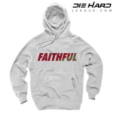 San Francisco 49ers Sweater FAITHFUL White Hoodie