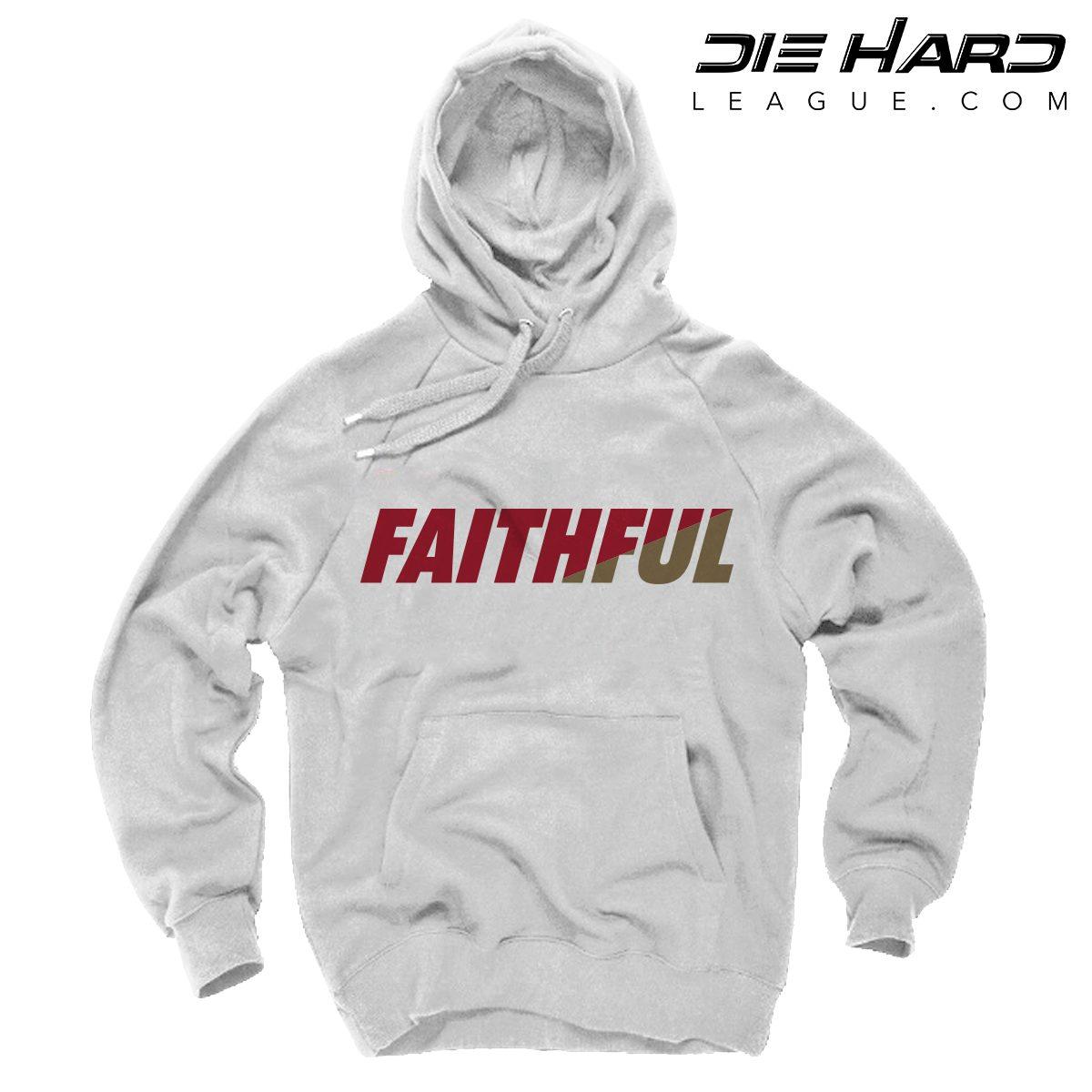 49ers Mens Hoodie - San Francisco 49ers FAITHFUL White Hoodie 89ac108f6