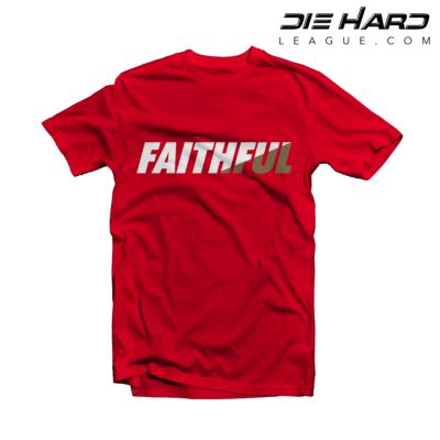 San Francisco 49ers T Shirt FAITHFUL Red Tee