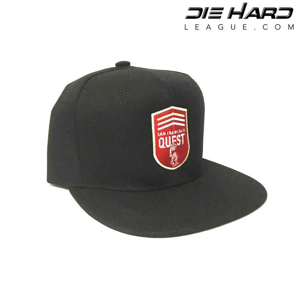 efa67da2 49ers Hats - San Francisco 49ers Quest for 6 GOD Snapback Hat