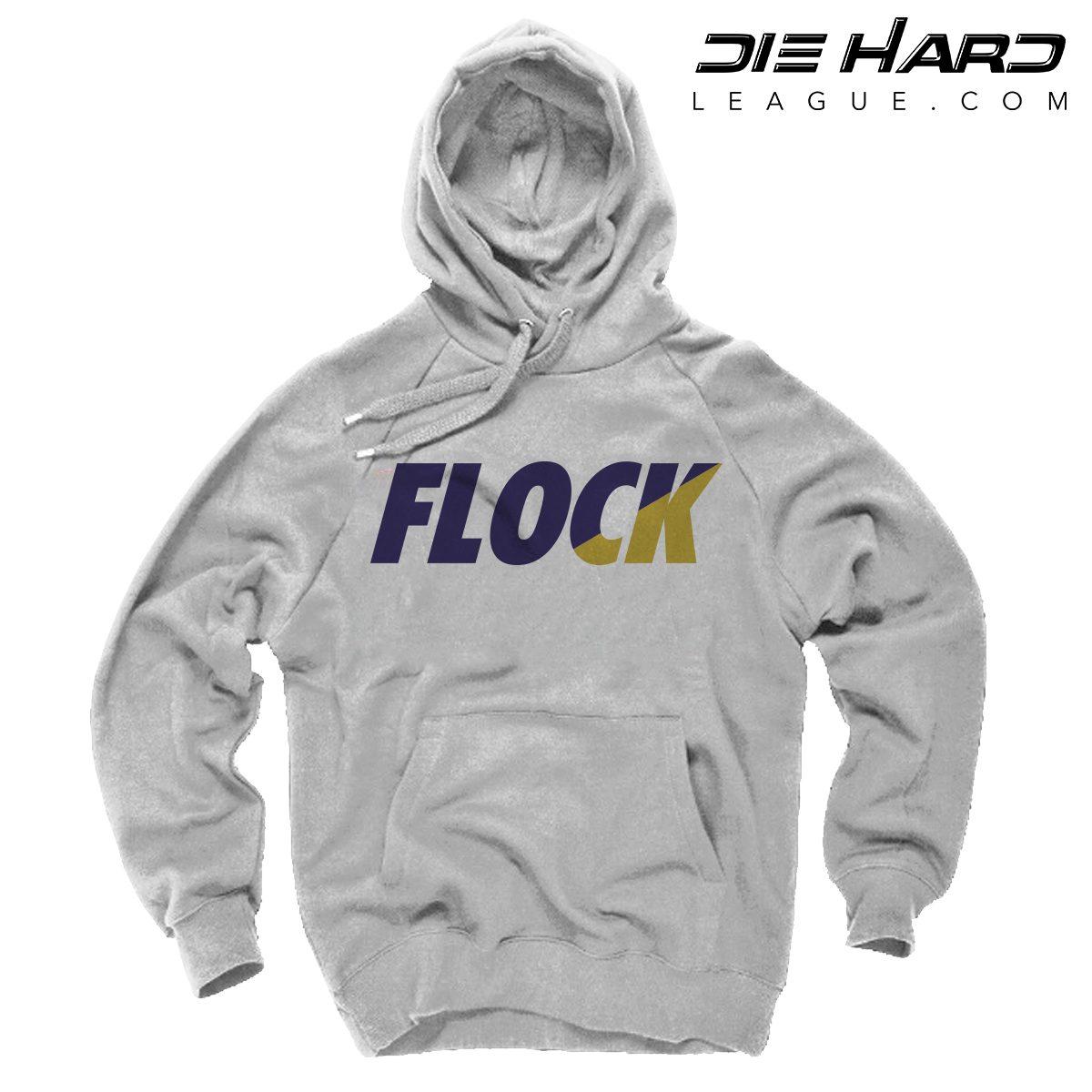 5f3ae7c2dfdba Shop. Home/Baltimore Ravens/Ravens Shirts/Ravens Hoodie Baltimore – FLOCK  White Hoodie