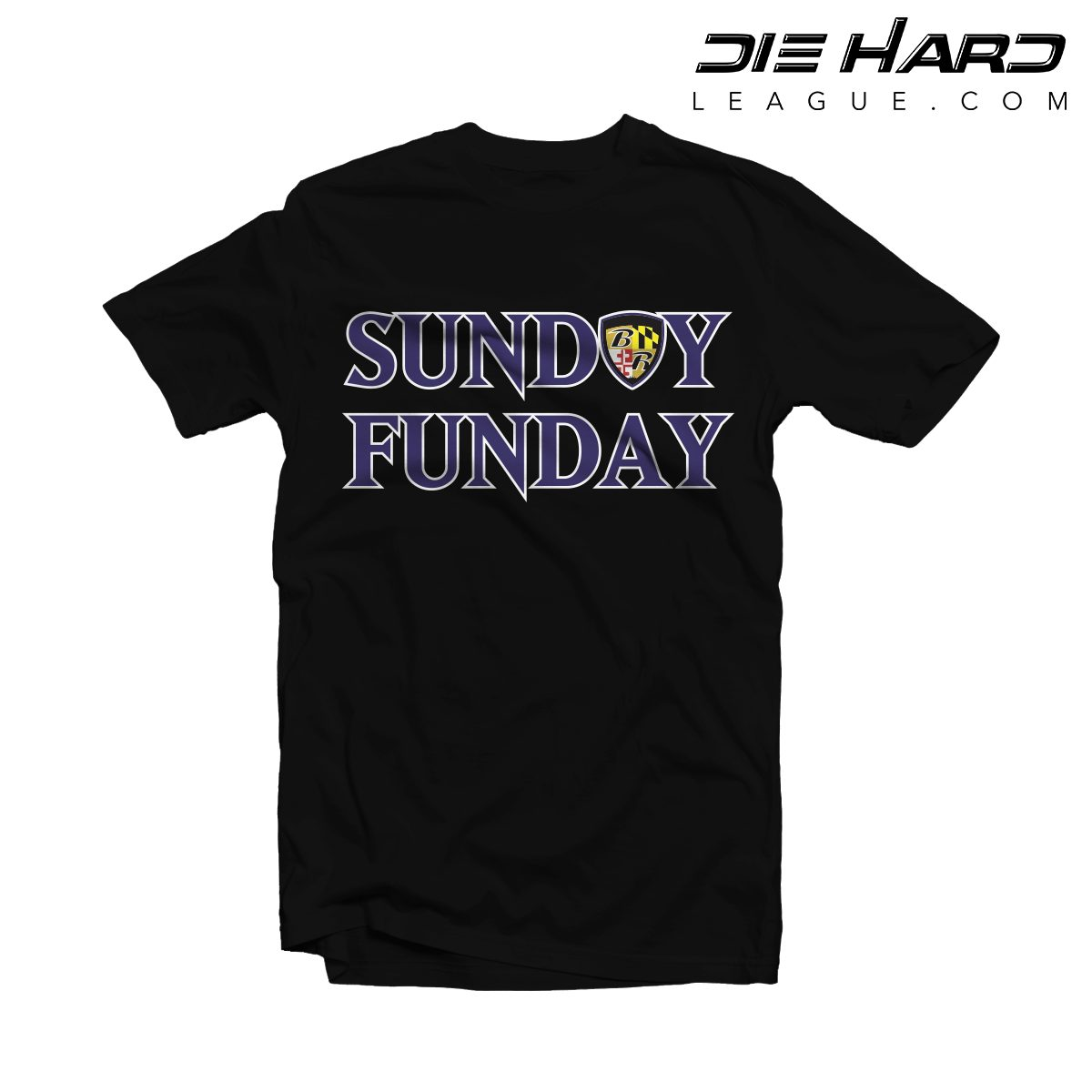 a9cc770332e00 Shop. Home/Baltimore Ravens/Ravens Shirts/Ravens Shirts Baltimore – Sunday  Funday Black Tee