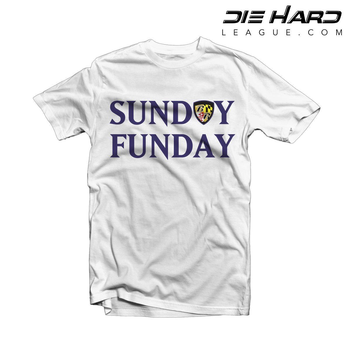 54fdfa86cc7cd Shop. Home/Baltimore Ravens/Ravens Shirts/Baltimore Ravens Shirts – Sunday  Funday White Tee