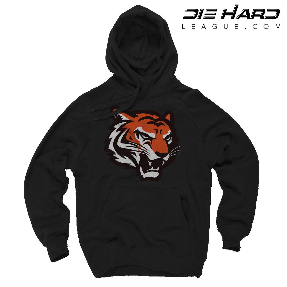 buy popular 65130 ec975 Cincinnati Bengals Hoodies - Alternate Logo Black Hoodie