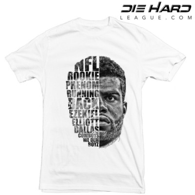 Ezekiel Elliott Shirt - Dallas Cowboys Shirt White Tee