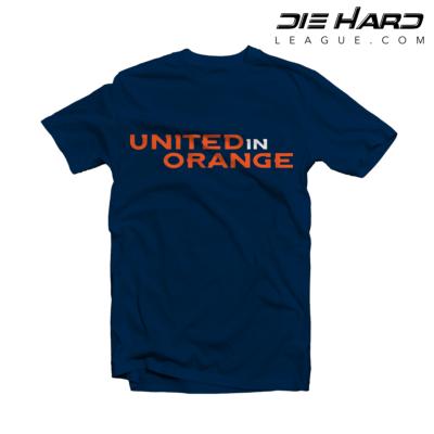 Denver Broncos T Shirt United in Orange Navy Tee