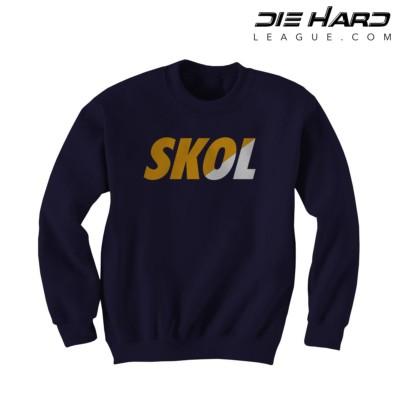 Minnesota Vikings Sweatshirts - Vikings SKOL Purple Crewneck