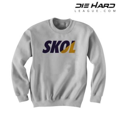 Vikings Sweatshirt - Minnesota Vikings SKOL White Crewneck