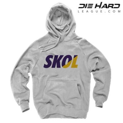 Minnesota Vikings Hoodies Mens - Vikings SKOL White Hoodie