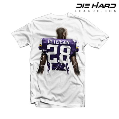 Adrian Peterson Return - Vikings Adrian Peterson Splatter White Tee