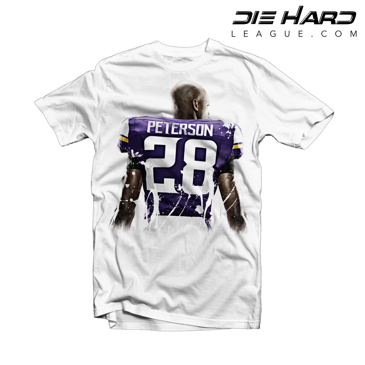 Adrian Peterson Return Vikings Adrian Peterson Splatter White Tee  for sale