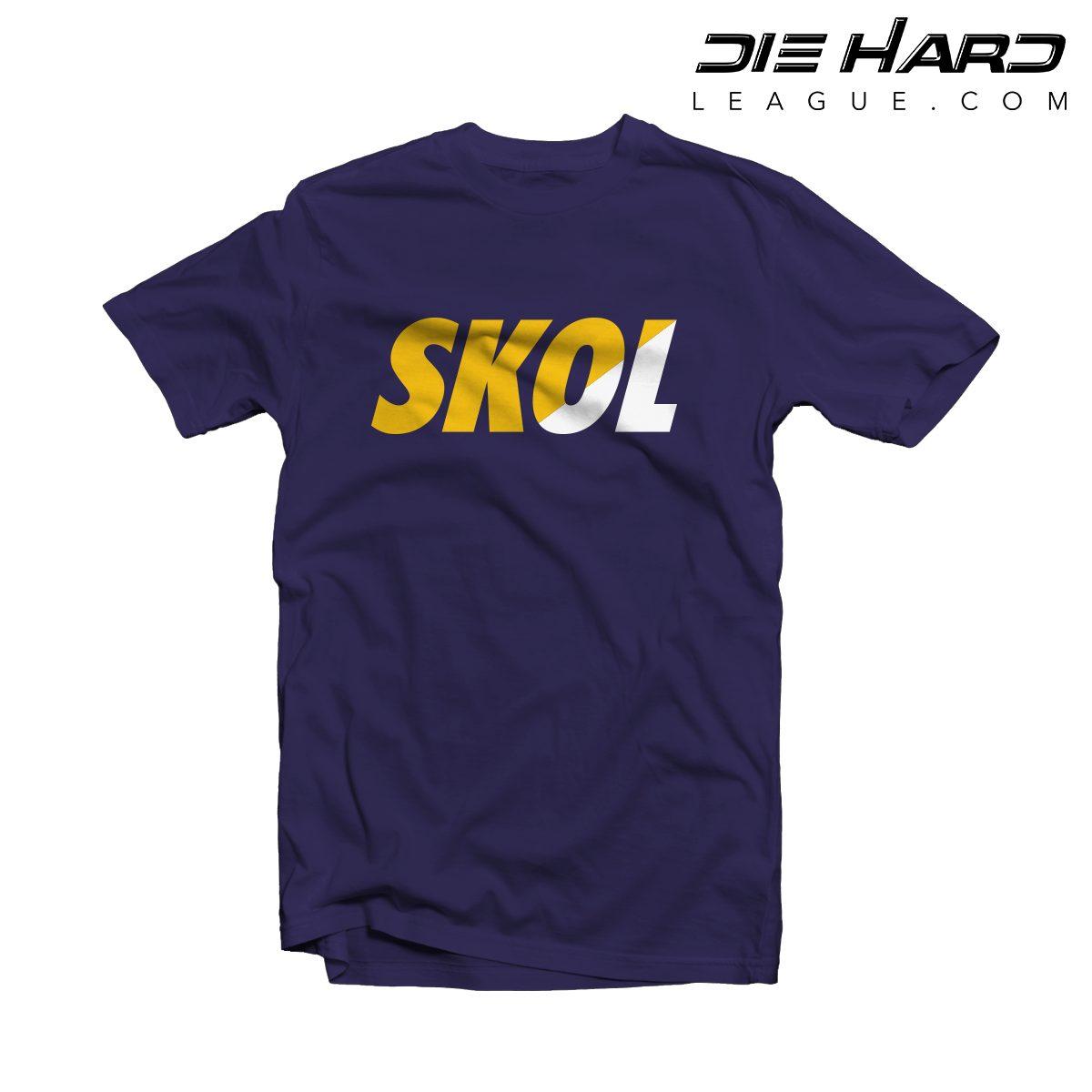 fc94b337f Vikings Shirts -Minnesota Vikings SKOL Purple Tee [ Best Design ]