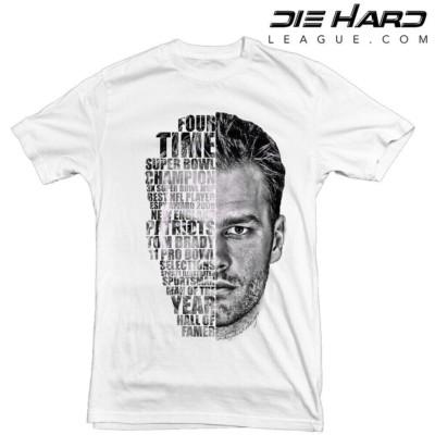 Tom Brady Shirts - New England Patriots Tom Brady Face White Tee