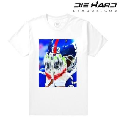 Odell Beckham - NY Giants Shirt OBJ Joker Face Glove White Tee