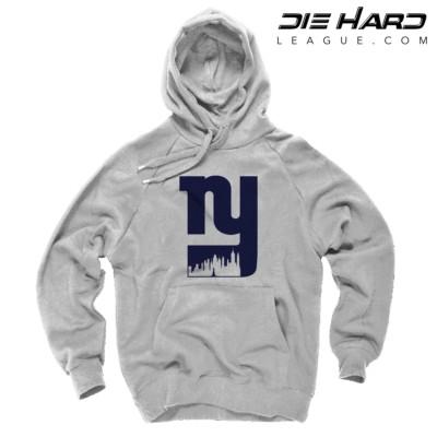 NY Giants Hoodie - New York Giants Alternate City Logo White Hoodie