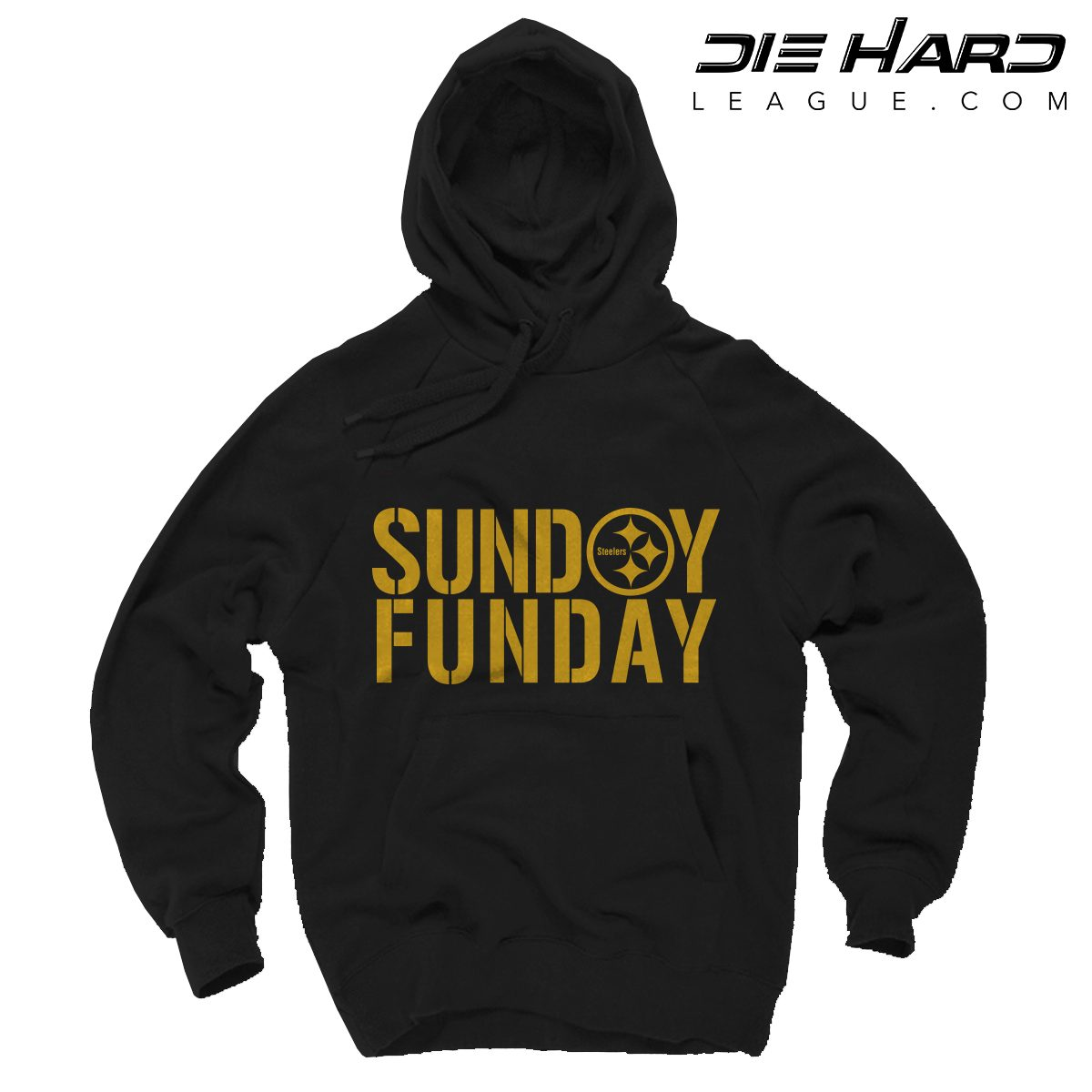 timeless design 17dbe c2d66 Steelers Sweater Pittsburgh - Sunday Funday Black Hoodie