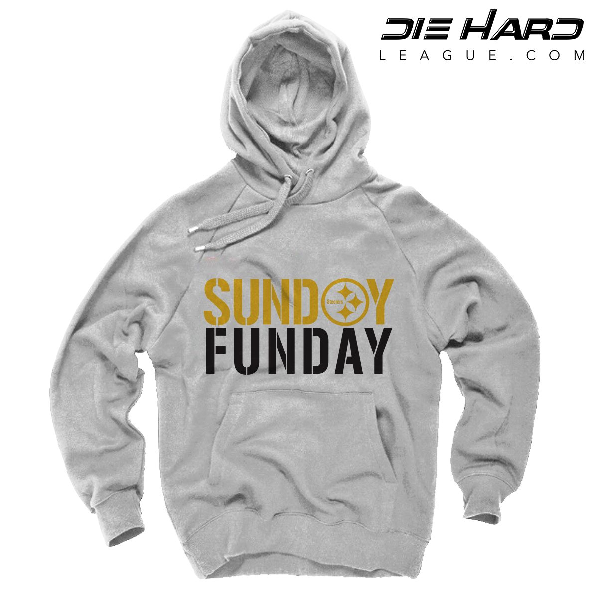 sports shoes 19f43 59bd8 Steelers Hoodie Pittsburgh - Sunday Funday White Sweatshirt