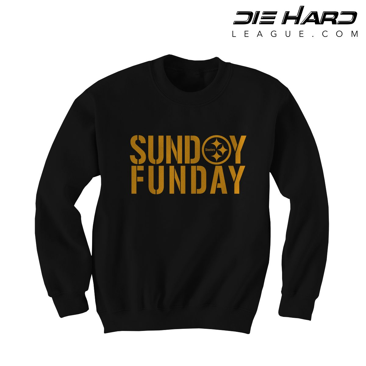 online store 9d55f 232c0 Steelers Sweatshirt Pittsburgh - Sunday Funday Black Crewneck