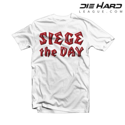 Tampa Bay Buccaneers T Shirt Siege the Day White Tee