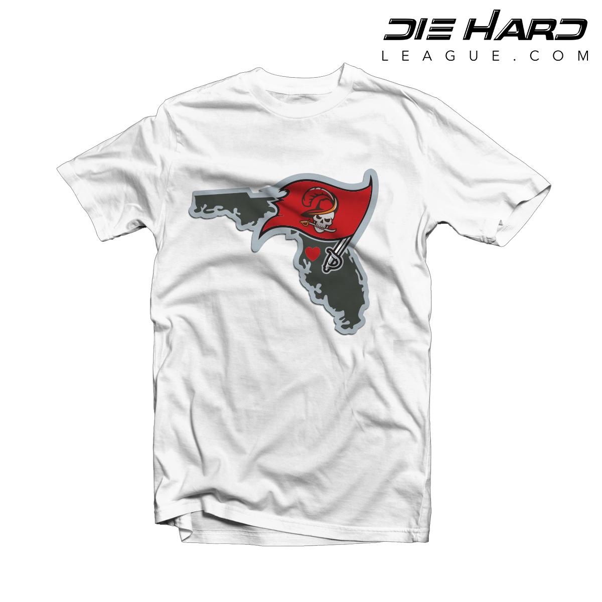 9579aba4d Tampa Bay Buccaneers T Shirt Tampa Bay Map White Tee